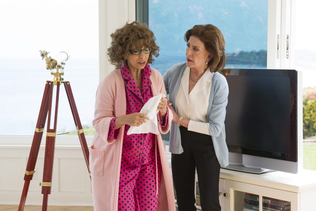 Emily Gilmore comforts Berta in 'Gilmore Girls: A Year in the Life'