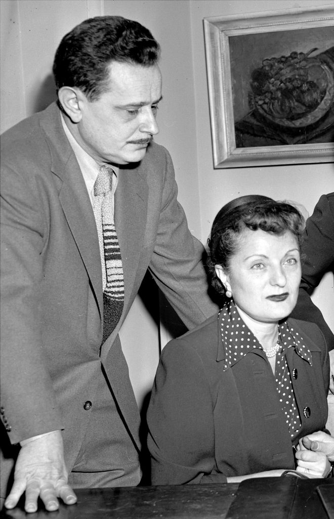 Abel Meeropol and his wife, Anne