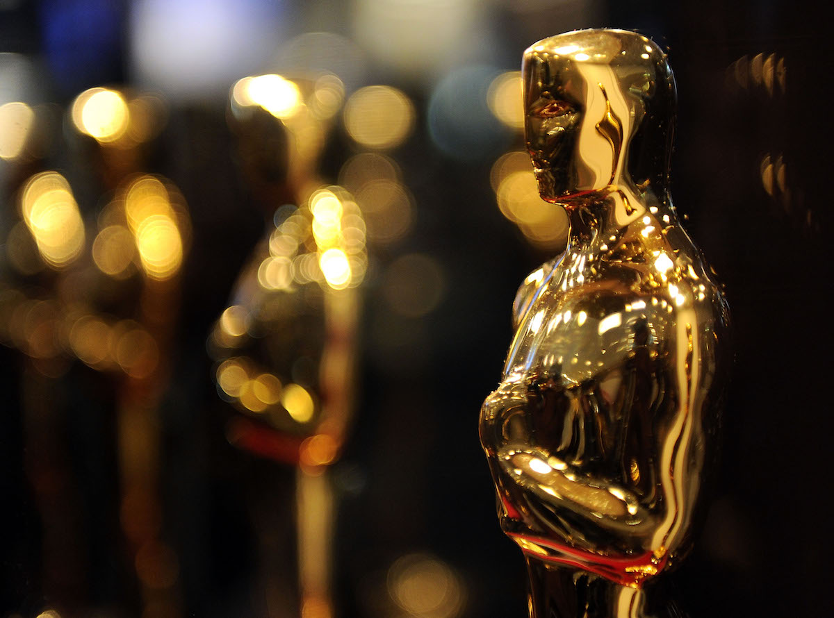 """A close up of an Oscar statues on display at """"Meet the Oscars"""" at the Time Warner Center on February 25, 2010 in New York City."""