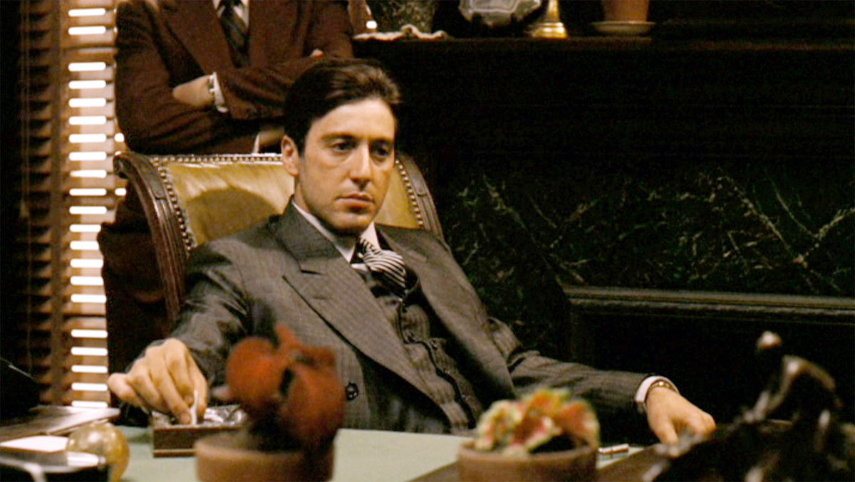 Al Pacino in The Godfather'