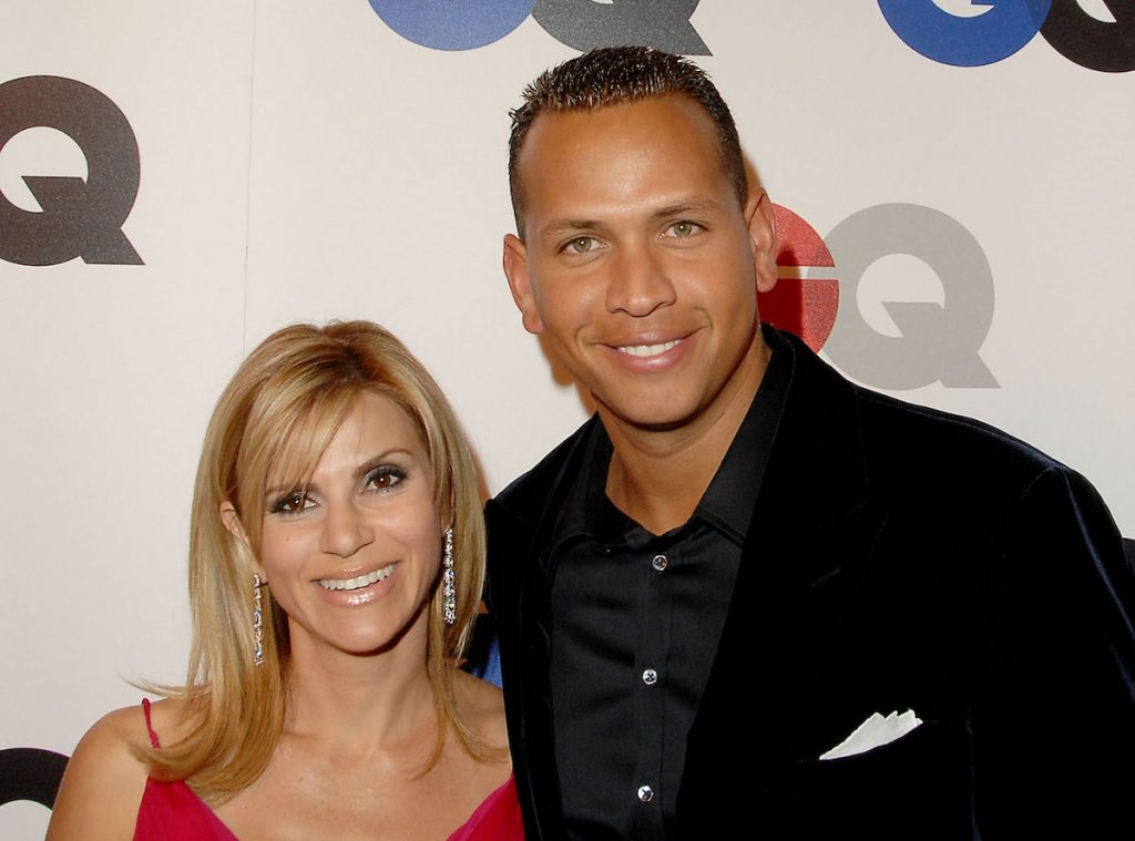 """Major league baseball player Alex Rodriguez and wife Cynthia Scurtis arrive at GQ Celebrates 2007 """"Men Of The Year"""" at the Chateau Marmont Hotel on December 5, 2007 in Hollywood, California 