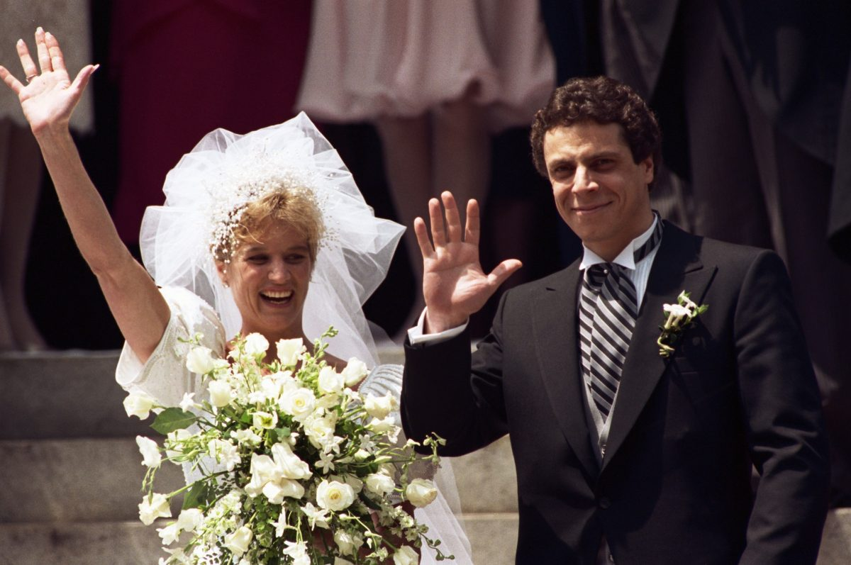 Kerry Kennedy and Andrew Cuomo on their wedding day in 1990 at St. Matthew's Cathedral in Washington D.C.