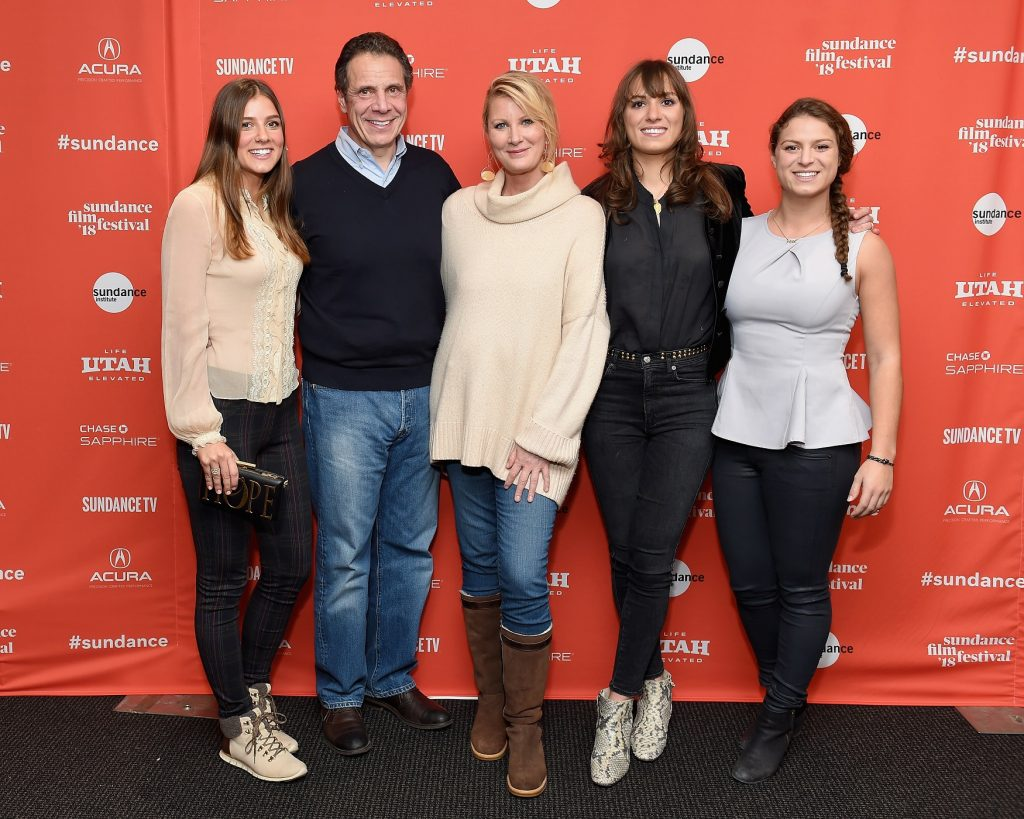 Michaela Kennedy Cuomo, Governor Andrew M. Cuomo, Sandra Lee, Mariah Kennedy Cuomo, and Cara Kennedy Cuomo attend the RX: Early Detection A Cancer Journey With Sandra Lee At Sundance Film Festival in 2018