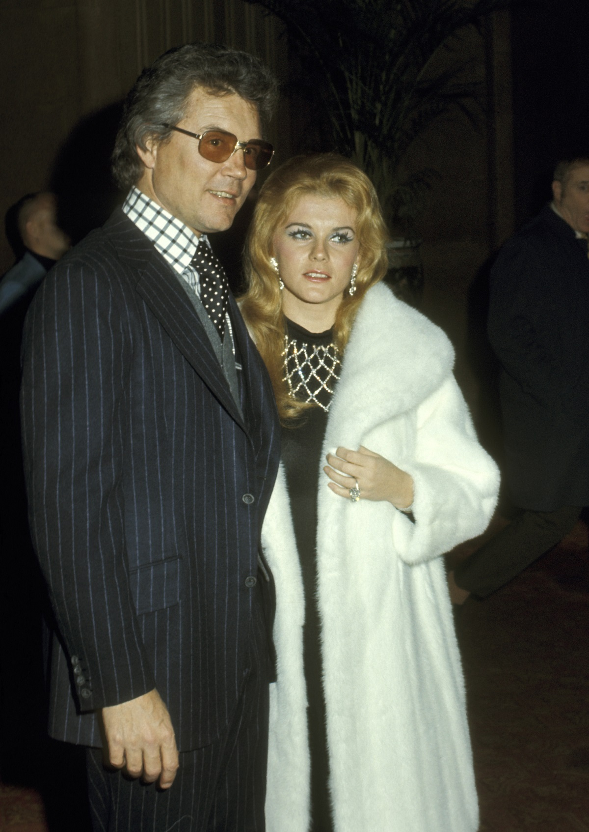 Ann-Margret and her husband Roger Smith in a candid shot at a 1971 event at the Waldorf-Astoria