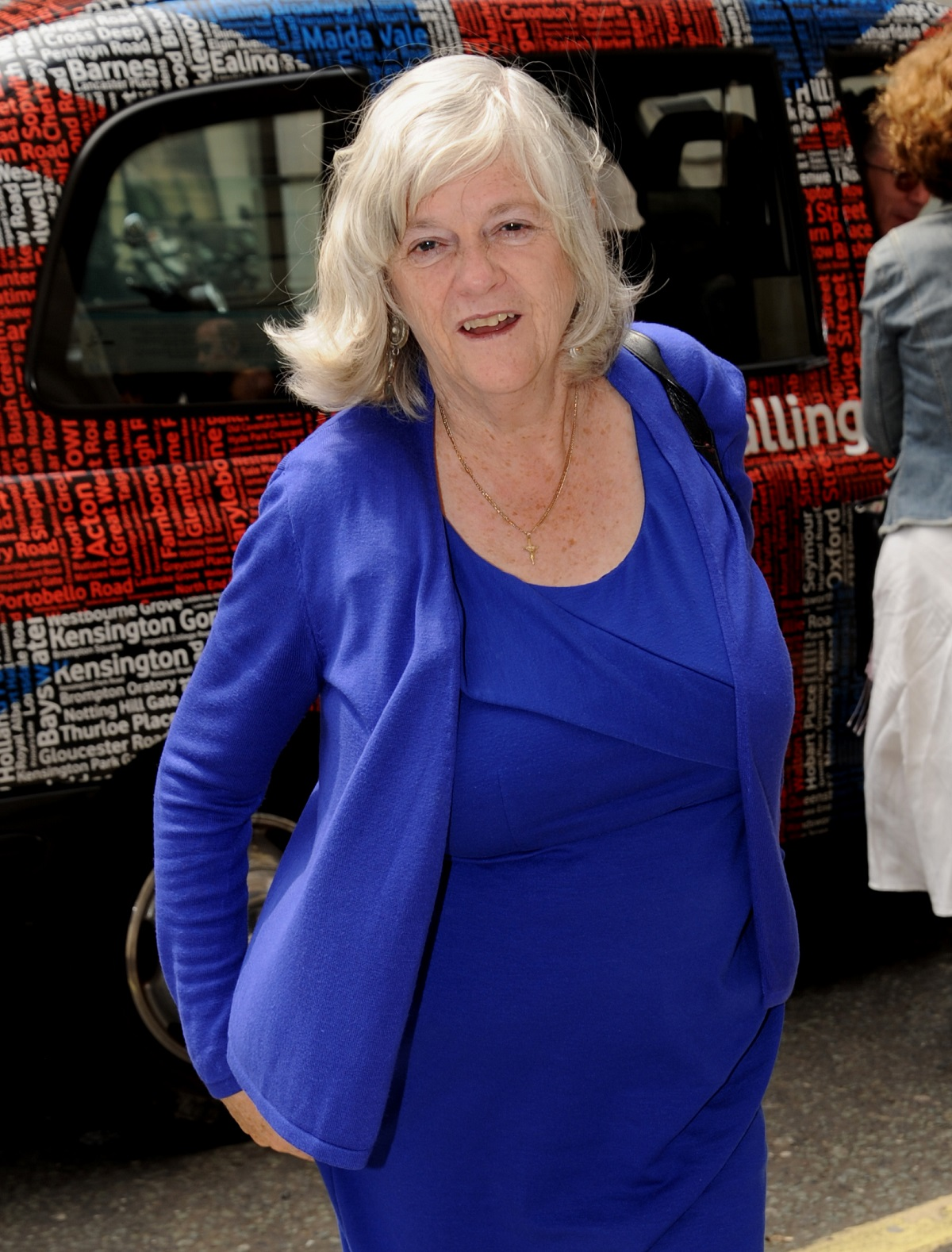 Candid shot of Ann Widdecombe at the BBC Studios in 2013