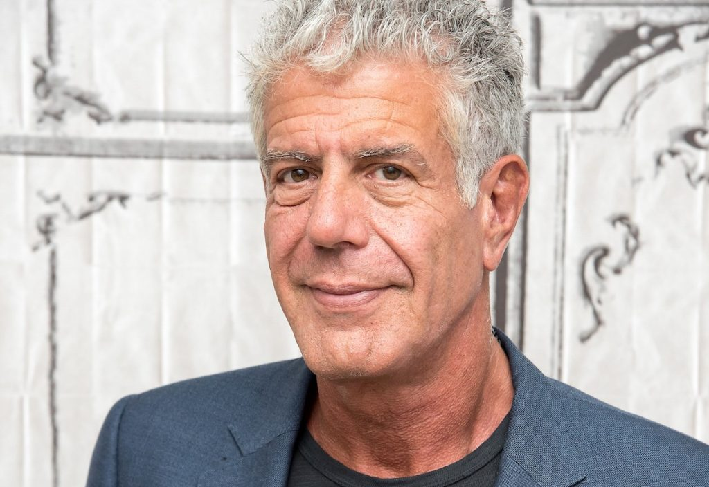 """Anthony Bourdain visits the Build Series to discuss """"Raw Craft"""" at AOL HQ on November 2, 2016 in New York City."""