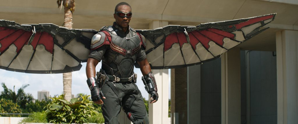 Anthony Mackie as Falcon in Captain America: Civil War