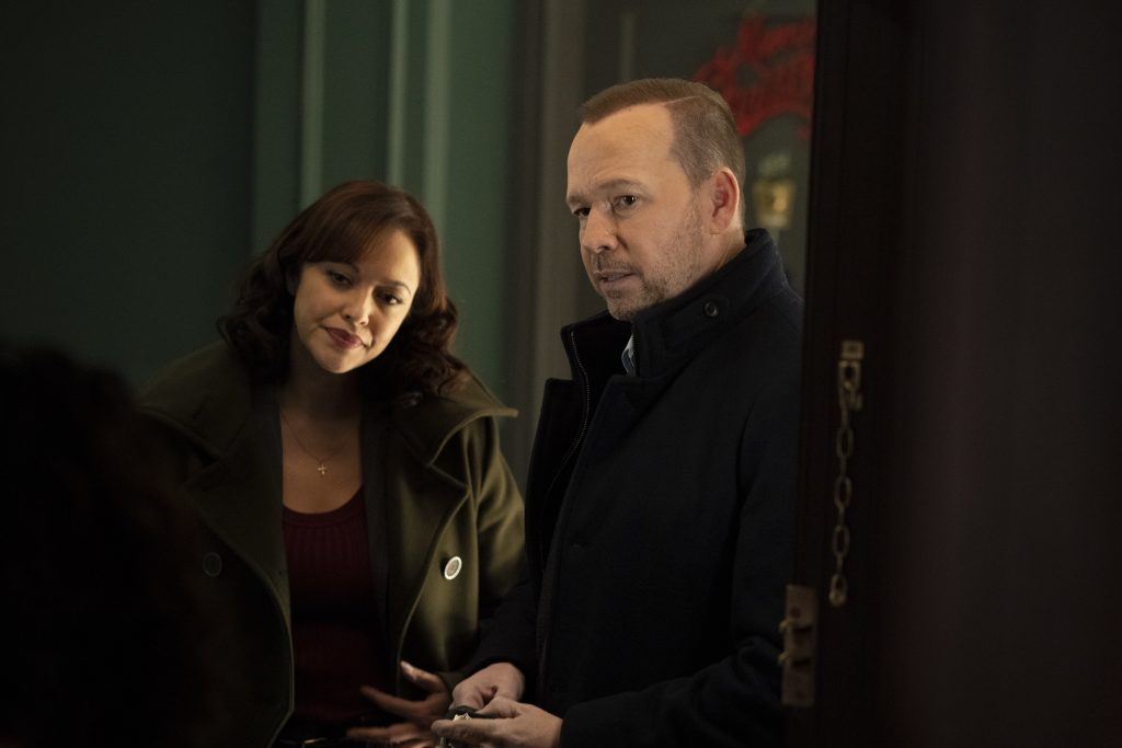 Baez and Reagan are going to have a tough time on 'Blue Bloods' this week. | Patrick Harbron/CBS via Getty Images
