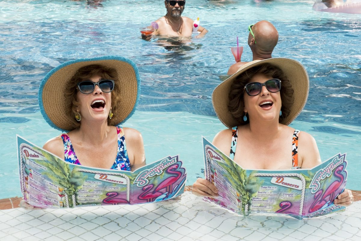 Barb and Star in the pool