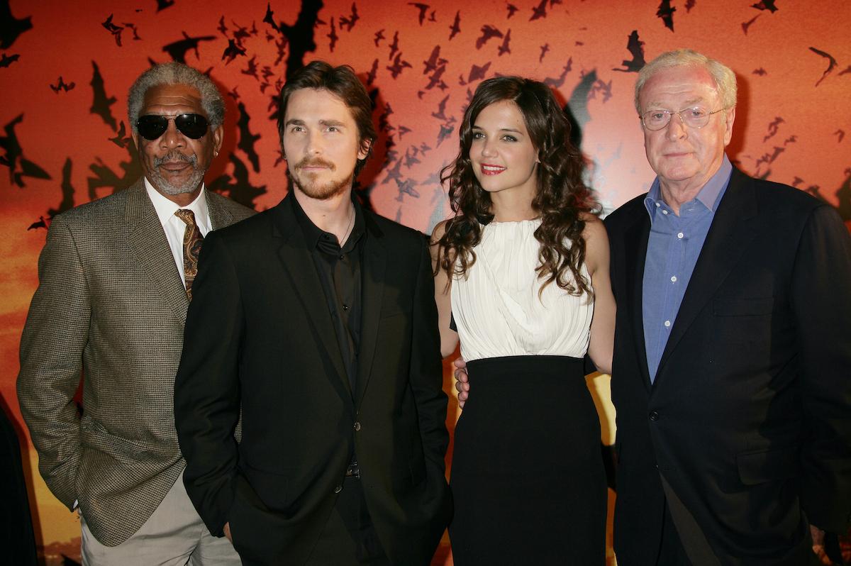 'Batman Begins' stars Morgan Freeman, Christian Bale, Katie Holmes, and Michael Caine