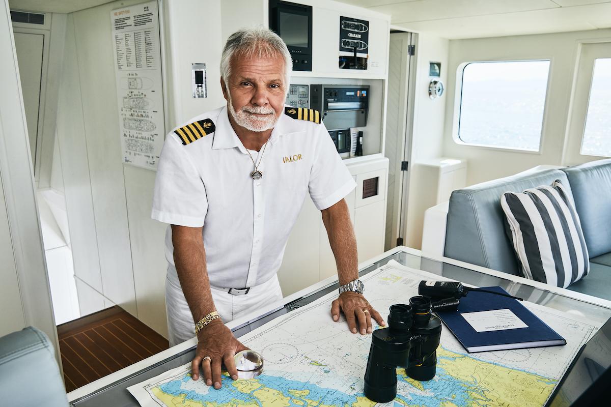 Captain Lee Rosbach in the wheelhouse