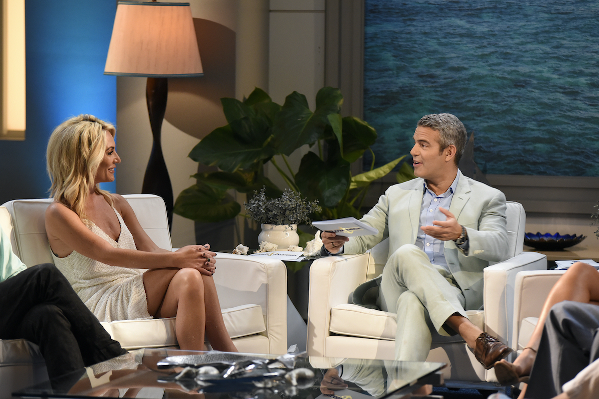 Kate Chastain, Andy Cohen during the 'Below Deck' Season 3 reunion