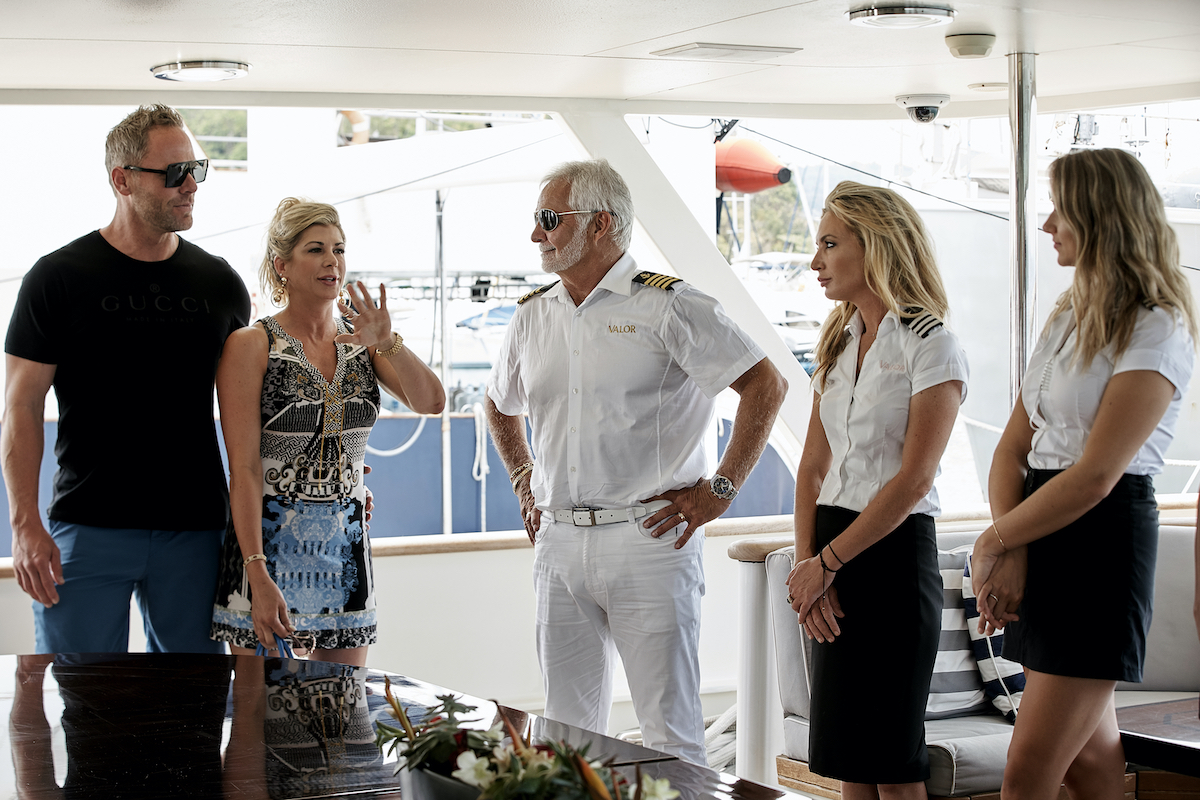 Andy Bohn, Alexis Bellino, Captain Lee Rosbach, Kate Chastain, Courtney Skippon on 'Below Deck'