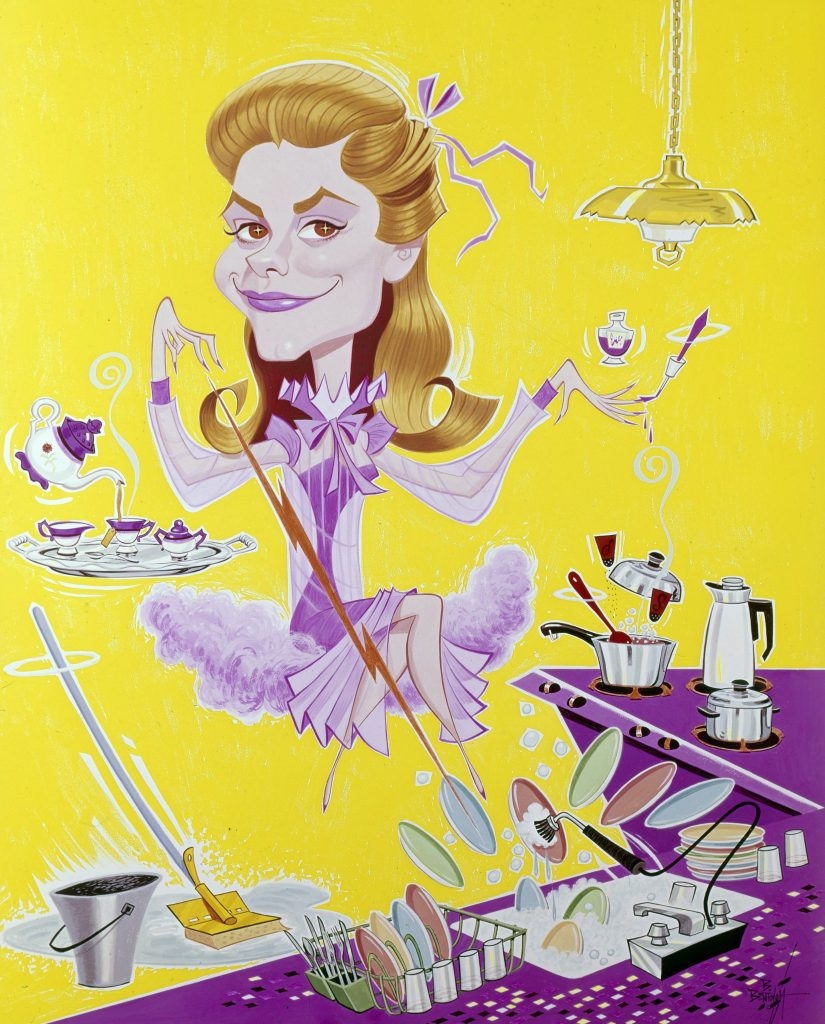 a characature of Samantha Stephens in 'Bewitched'