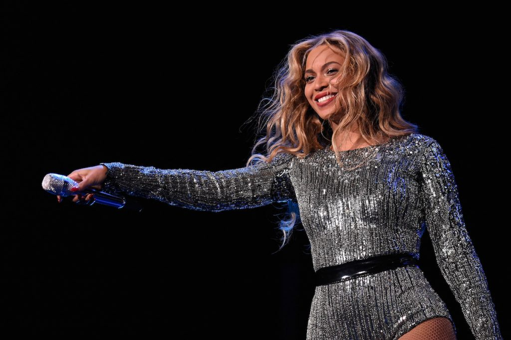 Beyonce performs onstage during the 2015 Budweiser Made in America Festival at Benjamin Franklin Parkway