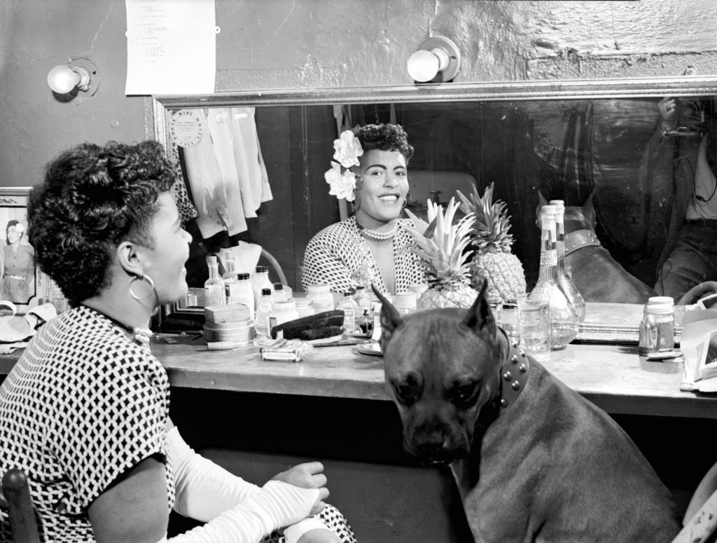 Billie Holiday and her boxer dog