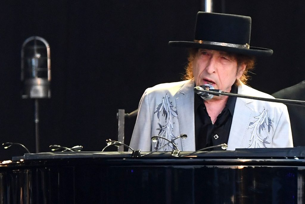 Bob Dylan performs as part of a double bill with Neil Young at Hyde Park on July 12, 2019 in London, England | Dave J Hogan/Getty Images for ABA