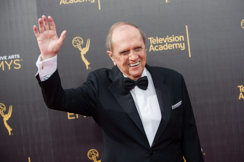 Bob Newhart arrives at the Creative Arts Emmy Awards at Microsoft Theater on September 10, 2016 in Los Angeles, California.