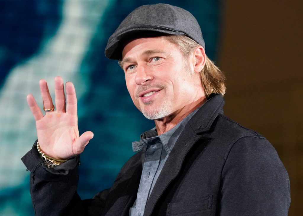 Brad Pitt attends the press conference for the Japanese premiere of 'Ad Astra' at National Museum of Emerging Science and Innovation