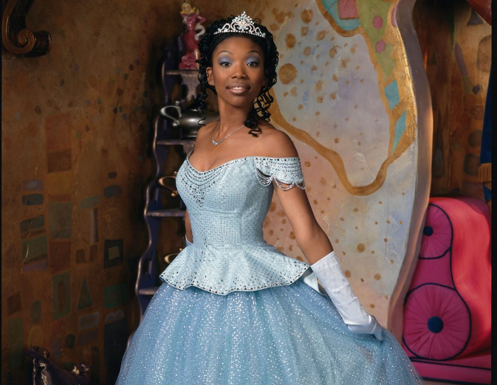 Brandy Norwood in a blue ballgown and tiara as Cinderella in 'Rodgers and Hammerstein's Cinderella' on ABC, 1997   Disney