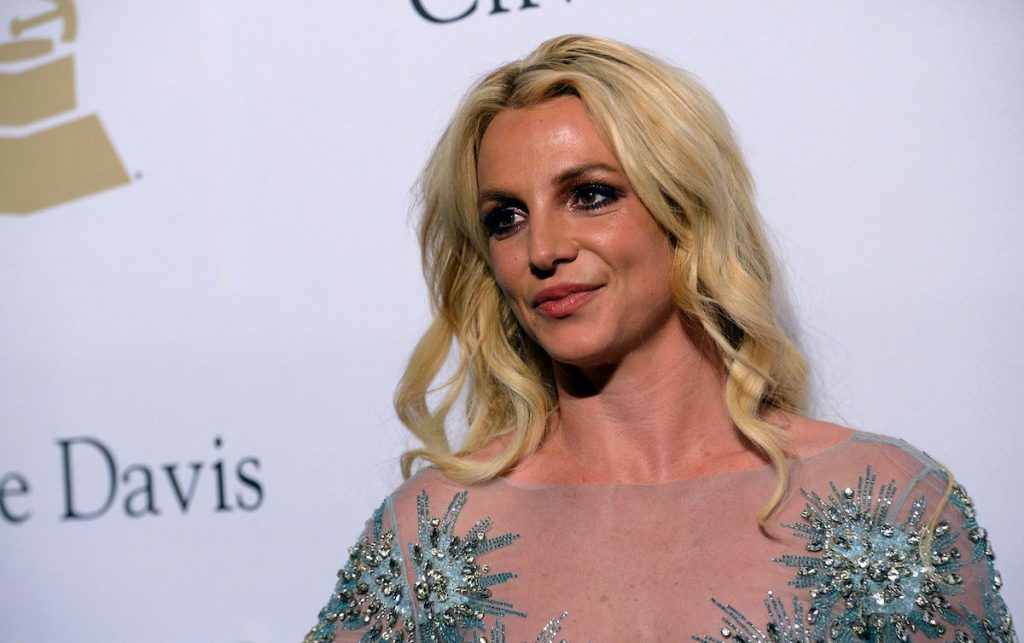 Britney Spears has a soft smile while posing on the red carpet