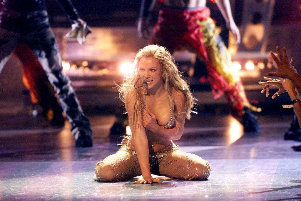 Britney Spears performing Toxic
