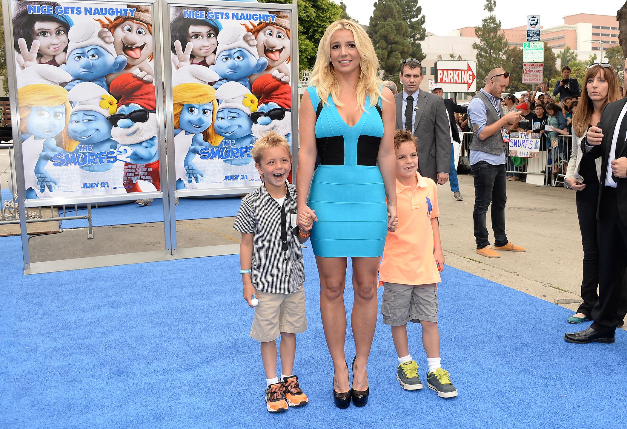 Britney Spears with her kids, Sean Preston Federline and Jayden James Federline