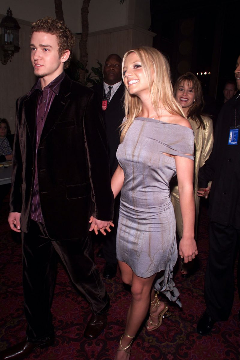 N'Sync's Justin Timberlake and Britney Spears arriving for the My VH1 Music Awards