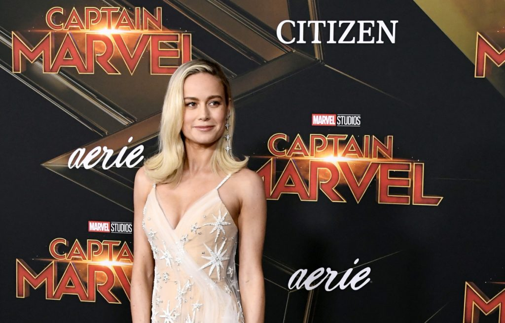 Brie Larson at the premiere of Captain Marvel in 2019