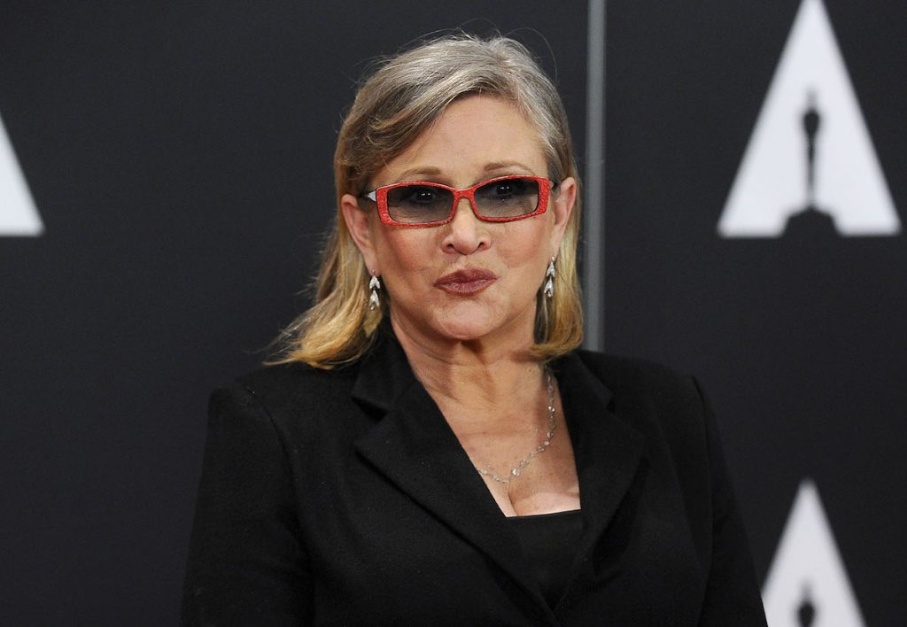 Carrie Fisher attends the 7th annual Governors Awards at The Ray Dolby Ballroom at Hollywood & Highland Center on November 14, 2015 in Hollywood, California.
