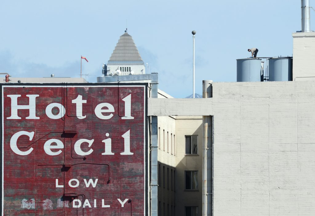 The Cecil Hotel in Los Angeles where Elisa Lam died