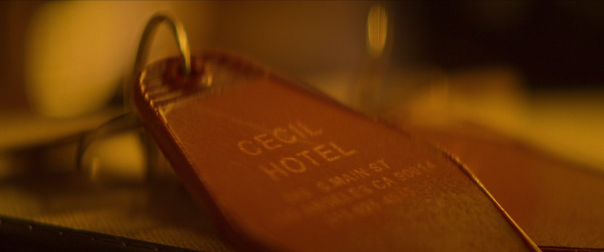 a photo of a room key from The Cecil Hotel