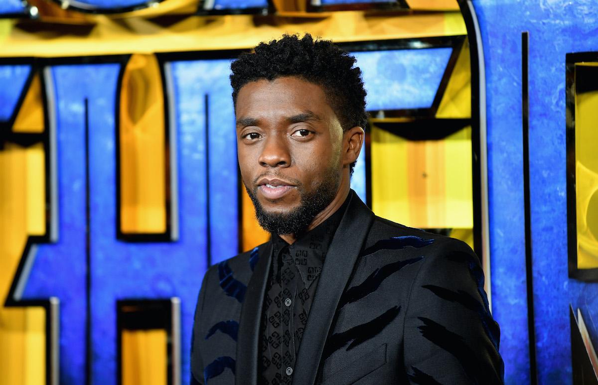 Chadwick Boseman at the 'Black Panther' European Premiere