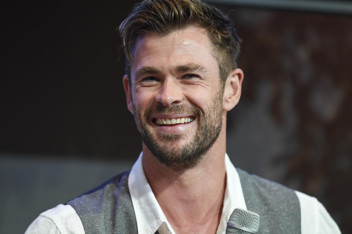 'Thor' star Chris Hemsworth at the Sydney Opera House