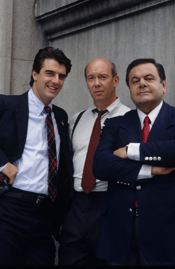 Chris Noth, Dann Florek, and Paul Sorvino in 'Law & Order'