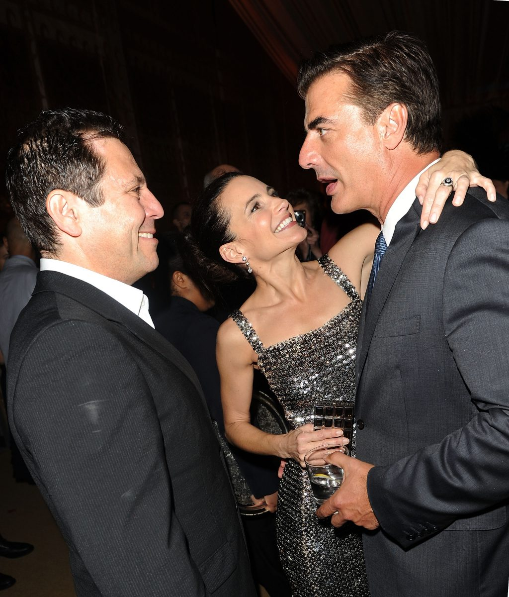 Darren Star, Kristin Davis, and Chris Noth attend the after party following the premiere of 'Sex and the City 2' at Lincoln Center for the Performing Arts