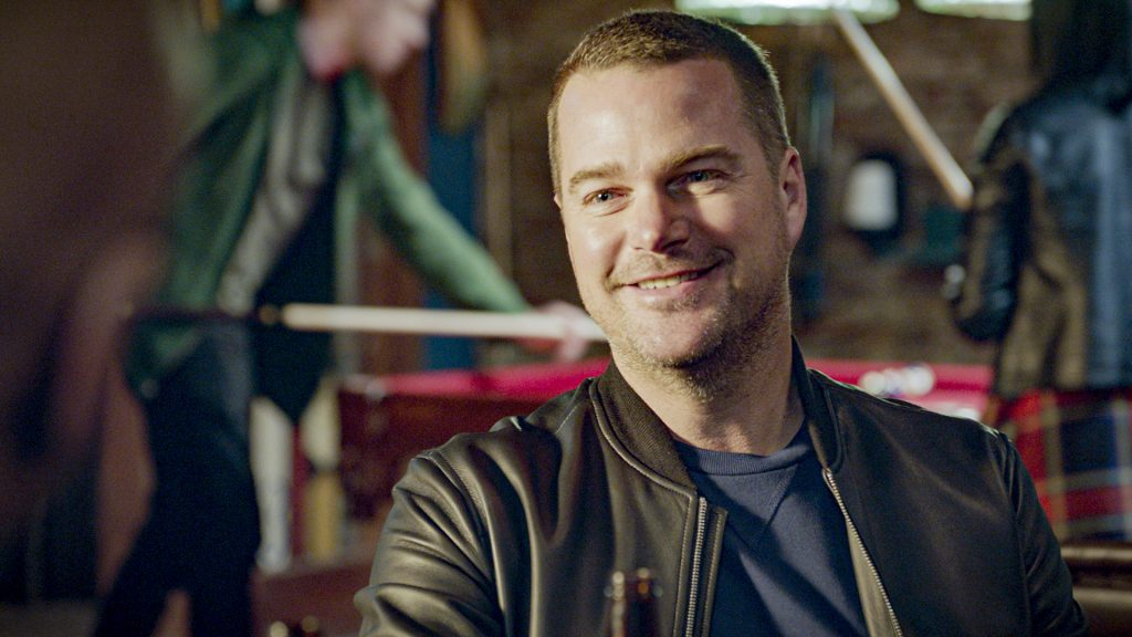 Chris O'Donnell on the set of 'NCIS: Los Angeles' |  CBS via Getty Images