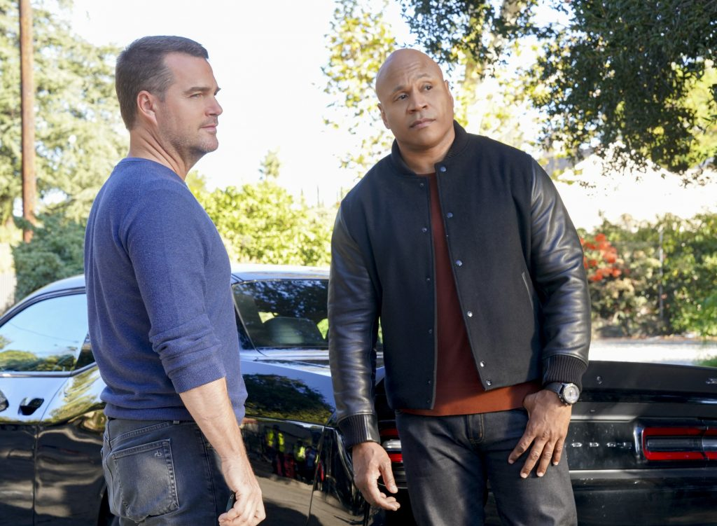 Chris O'Donnell and LL Cool J on NCIS Los Angeles |  Ron P. Jaffe/CBS via Getty Images