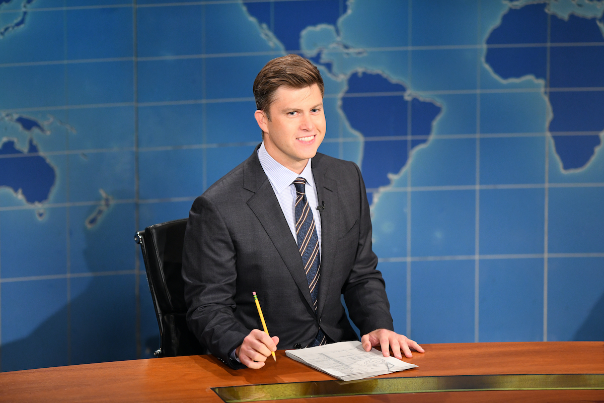 Colin Jost during 'Weekend Update' on 'Saturday Night Live' in 2020