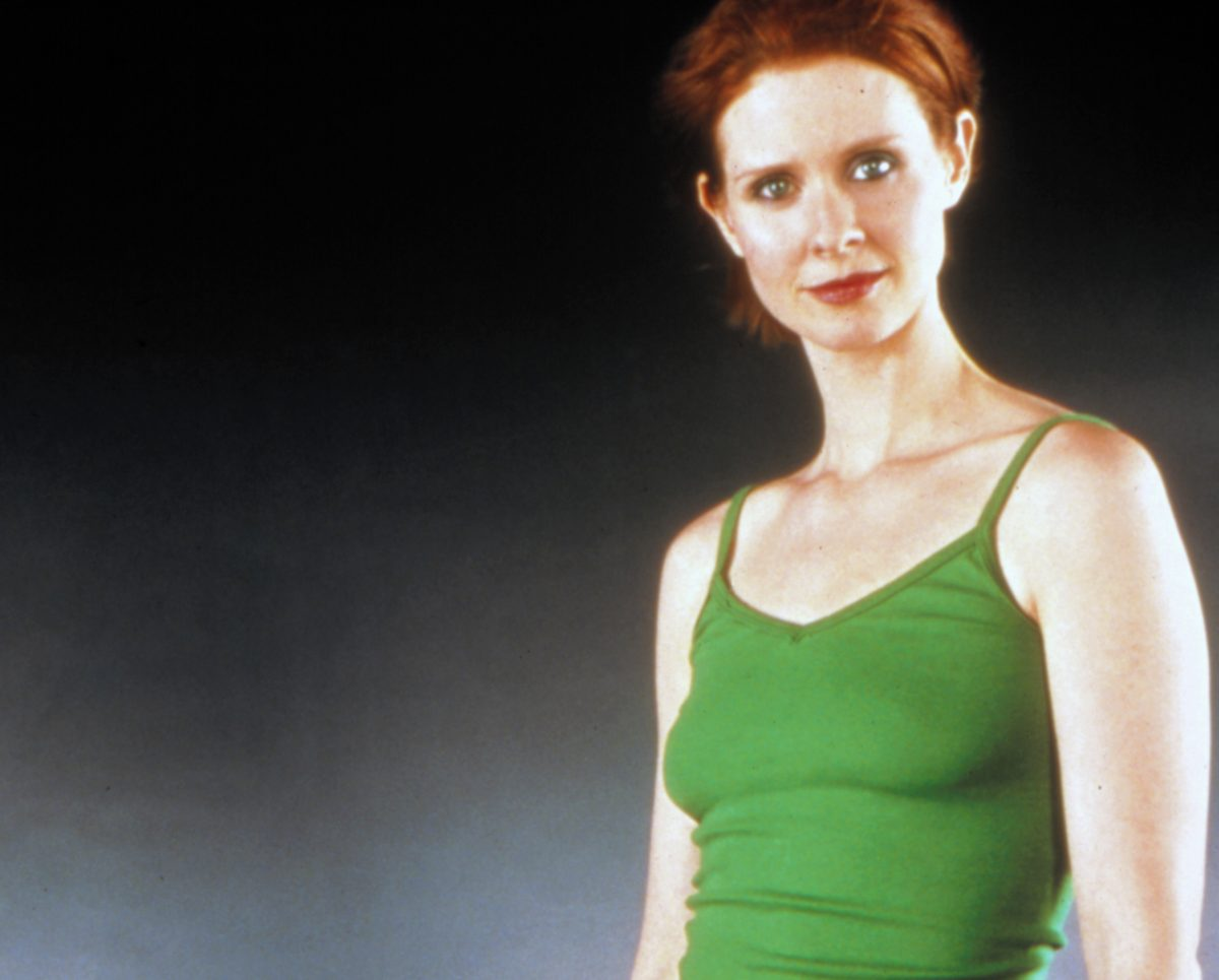 Cynthia Nixon as Miranda Hobbes in a promotional photo for 'Sex and the City'