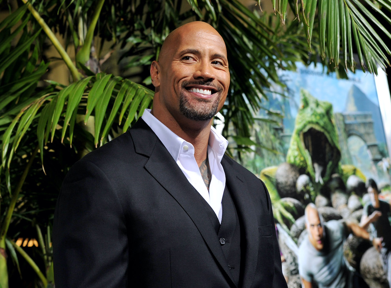 "Dwayne Johnson at the premiere of Warner Bros. Pictures' ""Journey 2: The Mysterious Island"""