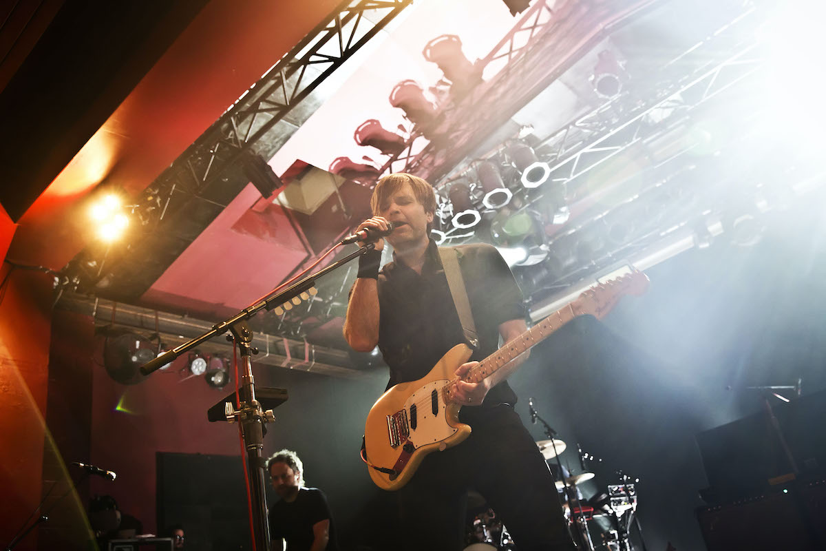 Singer Benjamin Gibbard of the American band Death Cab for Cutie performs live on stage