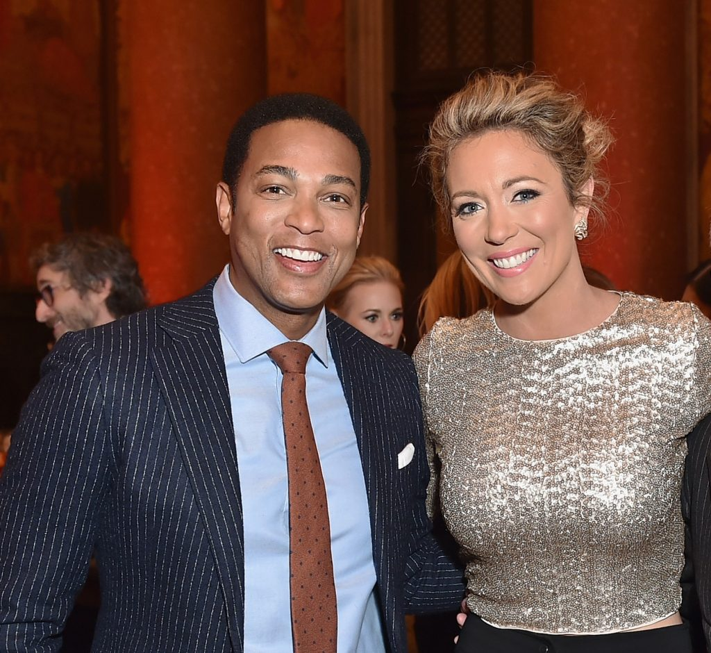 Don Lemon and Brooke Baldwin  pose for photo the American Museum of Natural History