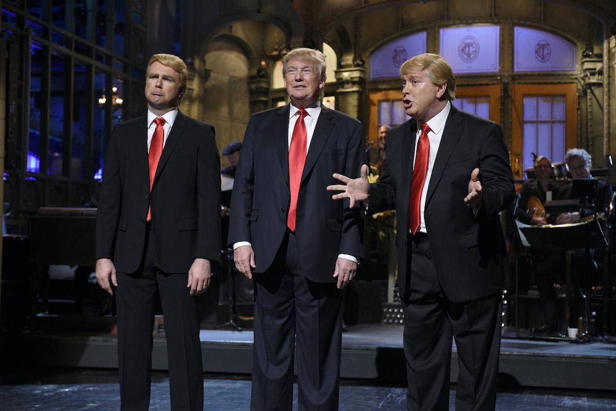 Taran Killam, Donald Trump, and Darrell Hammond on 'Saturday Night Live'