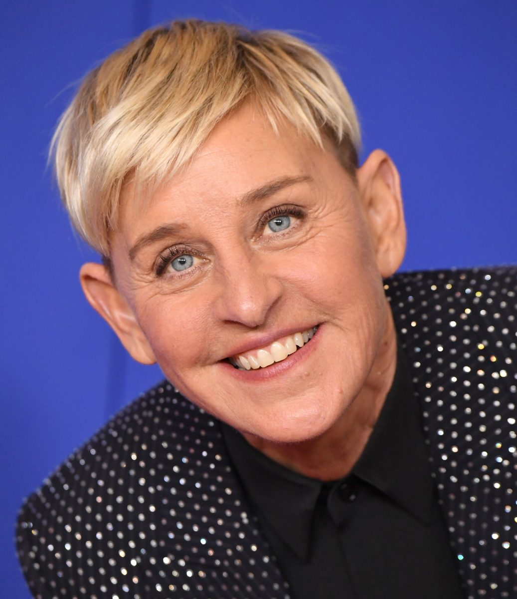 Ellen Degeneres poses in the press room at the 77th Annual Golden Globe Awards