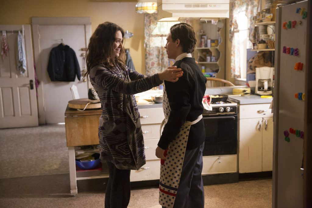 Emmy Rossum as Fiona Gallagher and Ethan Cutkosky as Carl Gallagher in Shameless
