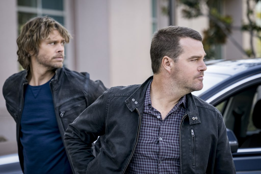 Eric Christian Olsen and Chris O'Donnell |Ali Goldstein/CBS via Getty Images