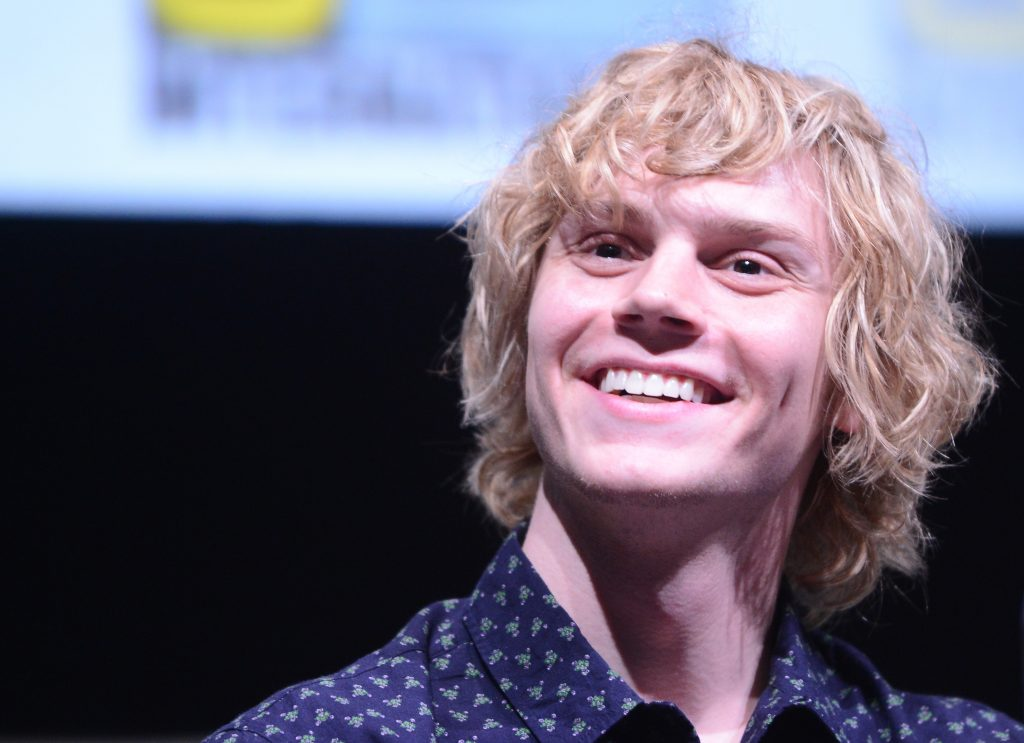 Actor Evan Peters of 'American Horror Story' at Comic-Con