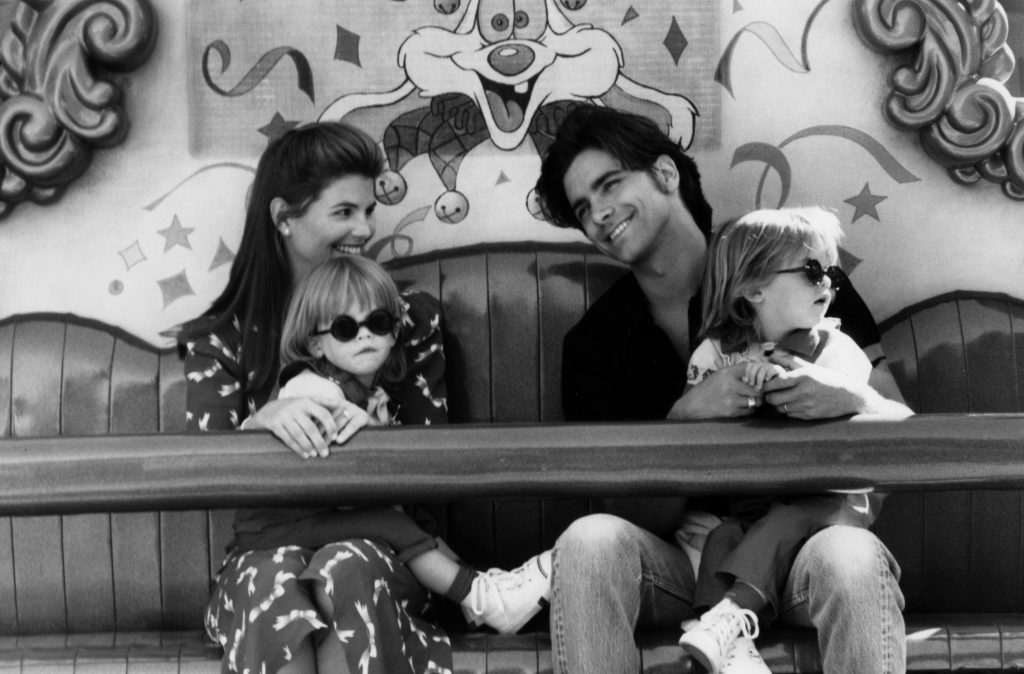 The cast of 'Full House' during the Episode Titled 'The House Meets The Mouse'
