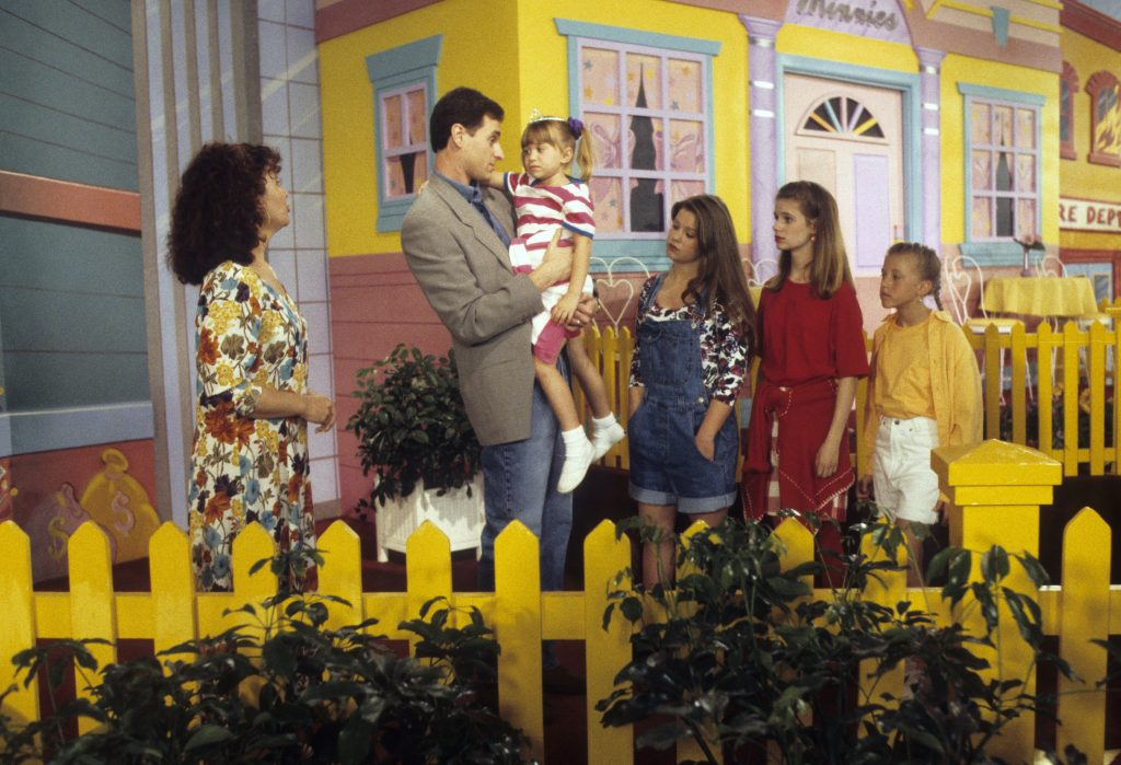 The 'Full House' Cast During 'The House Meets The Mouse' Episode
